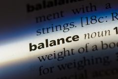 Balance. Word in a dictionary.  concept Stock Photography