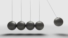 Balance Balls. Balancing balls newtons cradle over light grey background Stock Images