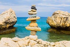 Balance on the beach Royalty Free Stock Images