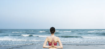 Balance Beach Energy Meditate Peace Relaxation Concept Royalty Free Stock Images