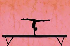 Balance beam Royalty Free Stock Image