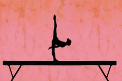 Balance beam Royalty Free Stock Images