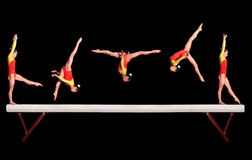 Balance beam stock photos