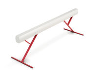 Balance beam isolated on white background. 3d rendering Stock Photo