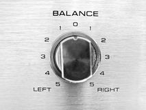 Balance / Bias. The channel balance on a hi-fi unit signifying political balance / bias Stock Photography