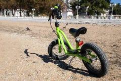 Balance bike on the beach Stock Photography
