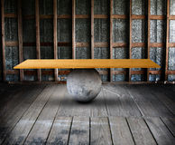 Balance board in room Royalty Free Stock Image