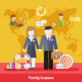 Balance Between Business Work and Family Life Royalty Free Stock Photos