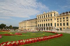 Balance color of Schoenbrunn Palace Stock Photos
