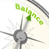 Balance compass Stock Photo