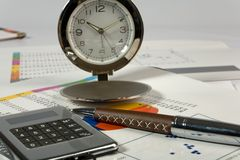 Balance  composition with office accessories. Balance composition with office accessories Stock Photo