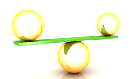 Balance concept. This is a 3D rendered picture Stock Photography