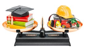 Balance concept, education or job. 3D rendering. Isolated on white background Stock Photo