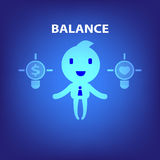 Balance concept illustration in blue background Royalty Free Stock Image