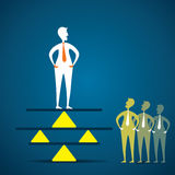Balance concept. Leader show the balance with life and job concept vector Royalty Free Stock Images