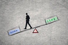 Balance concept about work and life Royalty Free Stock Images