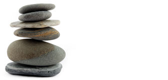 Balance (copyspace). Balance (stones isolated on white) and copyspace Royalty Free Stock Images
