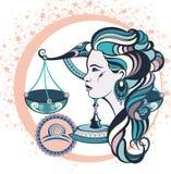 Balance décorative de signe de zodiaque illustration stock