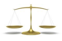 Balance d'or illustration de vecteur
