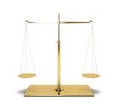 Balance d'or Photo stock