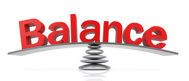 Balance. 3D Balance Text with Scale. 3D Rendering Royalty Free Stock Images