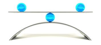 balance de la bola 3d, concepto de equilibrio Fotografía de archivo libre de regalías