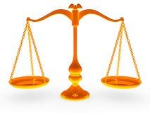 Balance de la escala Ilustración del Vector