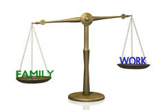 Balance de la familia y del trabajo Imagen de archivo