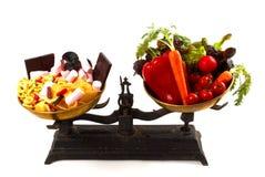 Balance de la nutrición Foto de archivo