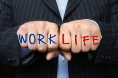 Balance de la vida del trabajo Imágenes de archivo libres de regalías