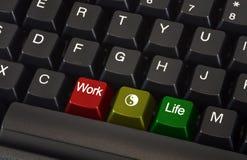 Balance de la vida del trabajo Foto de archivo
