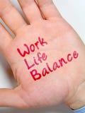 Balance de la vida del trabajo imagenes de archivo