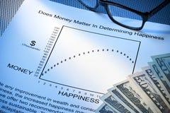 Balance de la vida del trabajo de la felicidad del dinero Fotografía de archivo libre de regalías