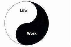 Balance de la vida y del trabajo Imágenes de archivo libres de regalías