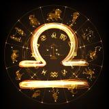 Balance de signe de zodiaque illustration de vecteur