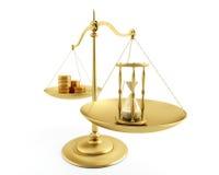 Balance de temps et d'argent. Photos libres de droits