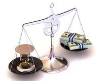 Balance de temps et d'argent Photographie stock libre de droits
