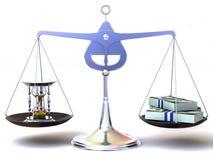 Balance de temps et d'argent Photo libre de droits