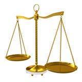 Balance de viga del oro ilustración del vector