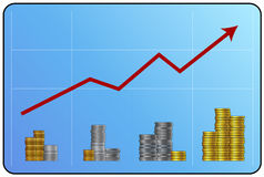 Balance del dinero ilustración del vector