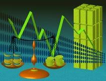 Balance del dinero Imagen de archivo