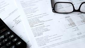 Balance del estado financiero, análisis del plan empresarial para los accionistas almacen de video