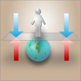 Balance der Machtgarantie zu den Stabilitäten Lizenzfreies Stockbild