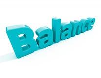 Balance des Wortes 3d Lizenzfreies Stockbild