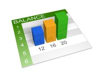Balance diagram illustration stock illustration
