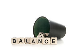 Balance in dices Royalty Free Stock Photography