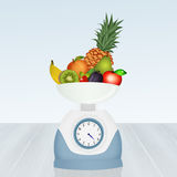 Balance diet with fruits Stock Photos