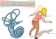 Balance disorder. A vector illustration of balance disorder vector illustration