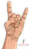 Balance disponível o sinal, rolo da rocha n, hard rock, metal pesado, música, d Foto de Stock Royalty Free