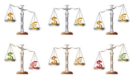 Balance. With dollar and euro royalty free illustration